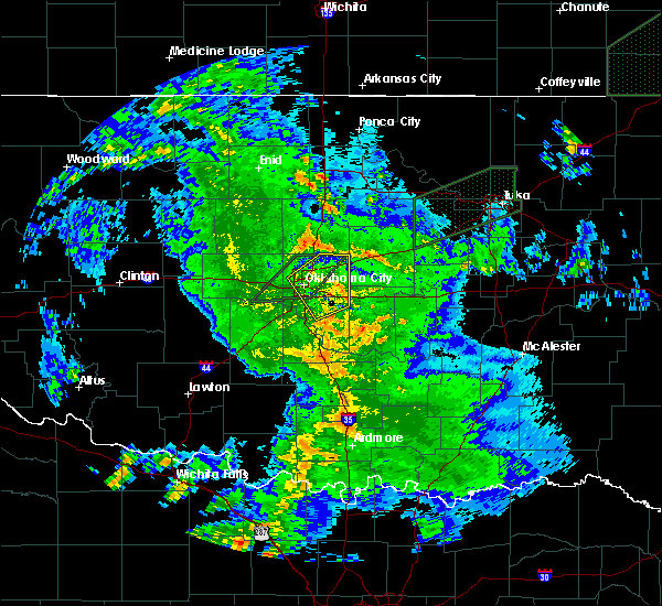 Radar Image for Severe Thunderstorms near Forest Park, OK at 3/19/2020 4:24 AM CDT