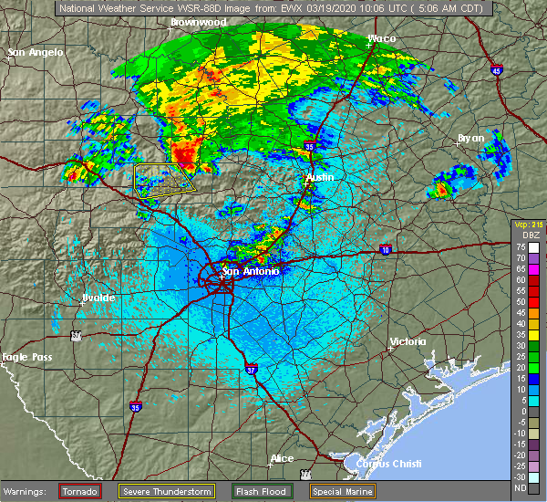Radar Image for Severe Thunderstorms near Highland Haven, TX at 3/19/2020 5:14 AM CDT