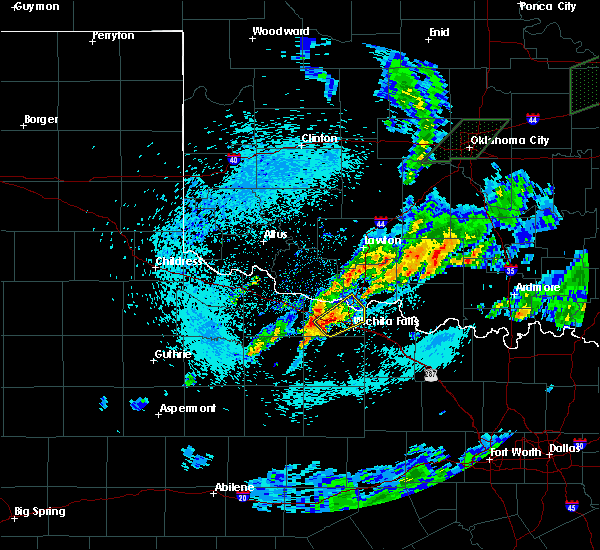 Radar Image for Severe Thunderstorms near Iowa Park, TX at 3/19/2020 5:57 AM CDT