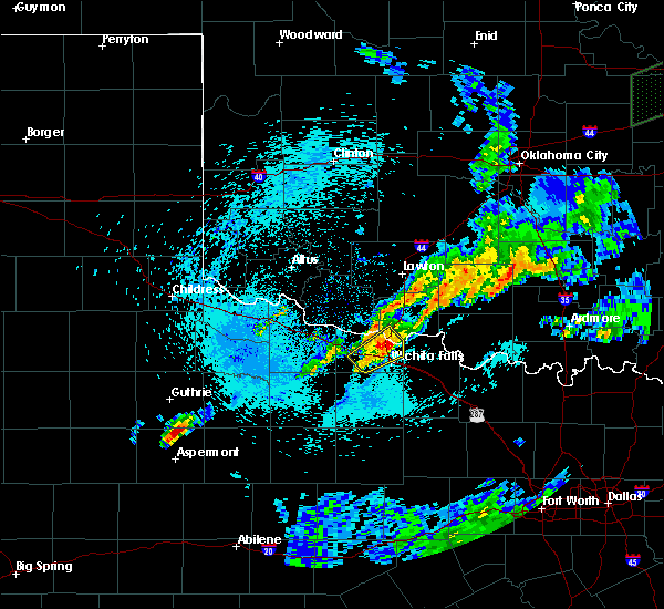 Radar Image for Severe Thunderstorms near Iowa Park, TX at 3/19/2020 6:06 AM CDT