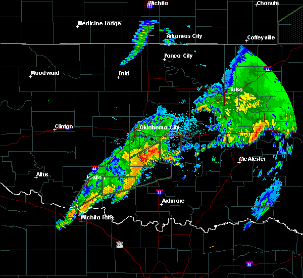 Radar Image for Severe Thunderstorms near Slaughterville, OK at 3/19/2020 9:17 AM CDT