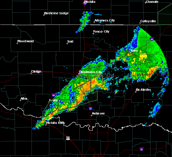 Radar Image for Severe Thunderstorms near Meeker, OK at 3/19/2020 9:28 AM CDT
