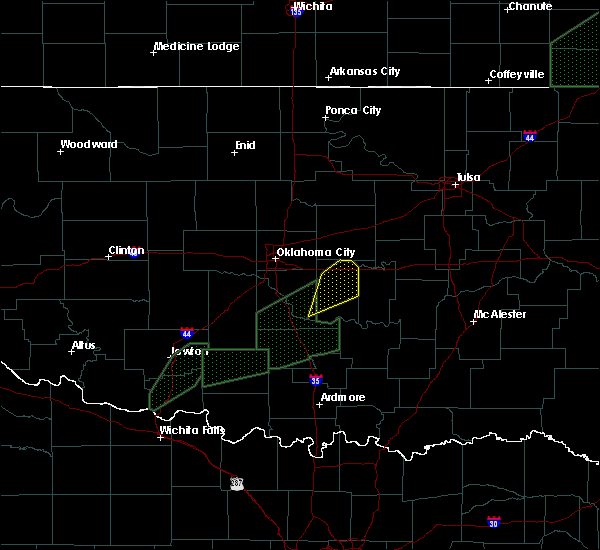 Radar Image for Severe Thunderstorms near Bowlegs, OK at 3/19/2020 9:50 AM CDT