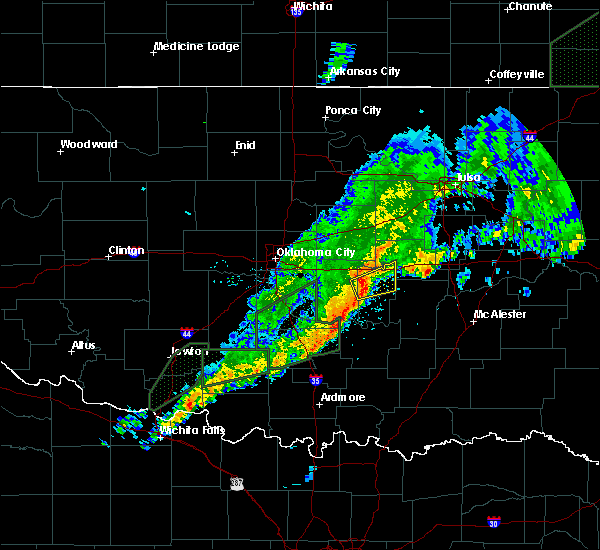 Radar Image for Severe Thunderstorms near Bowlegs, OK at 3/19/2020 9:58 AM CDT