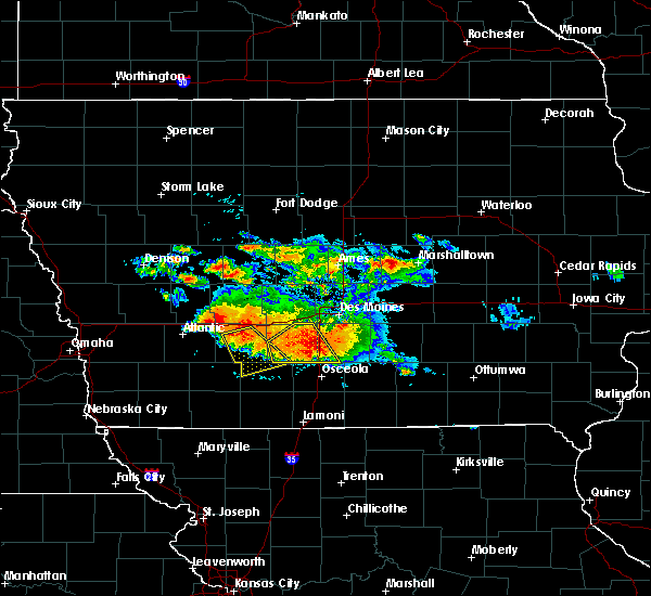 Radar Image for Severe Thunderstorms near Orient, IA at 6/24/2015 8:33 PM CDT