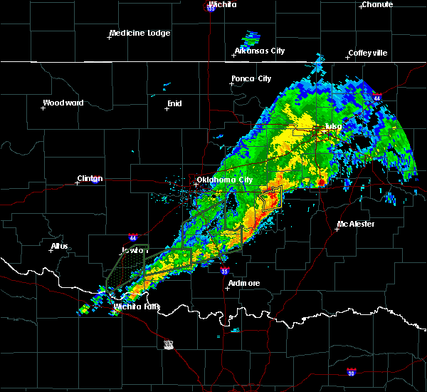 Radar Image for Severe Thunderstorms near Bowlegs, OK at 3/19/2020 10:10 AM CDT