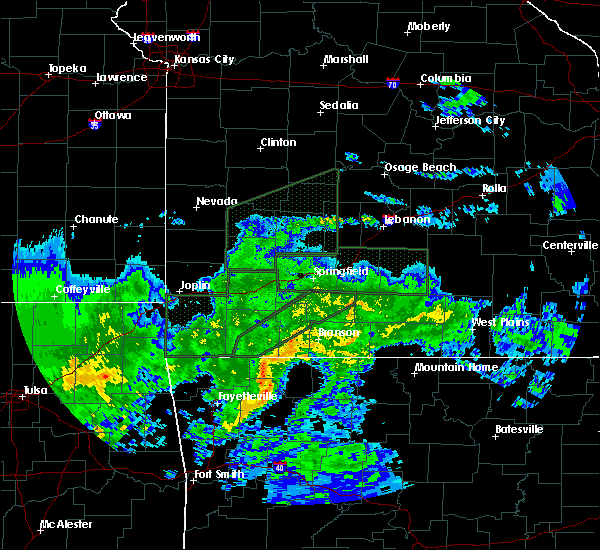 Radar Image for Severe Thunderstorms near Eureka Springs, AR at 3/19/2020 11:05 AM CDT