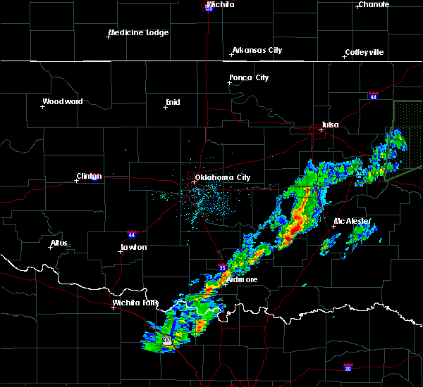 Radar Image for Severe Thunderstorms near Stuart, OK at 3/19/2020 2:18 PM CDT