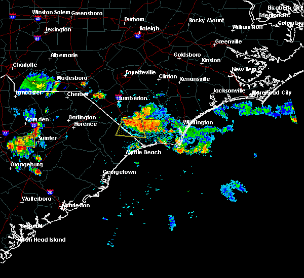 Radar Image for Severe Thunderstorms near Cerro Gordo, NC at 6/24/2015 9:40 PM EDT