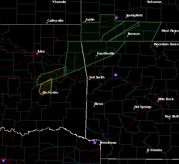 Radar Image for Severe Thunderstorms near Canadian, OK at 3/19/2020 3:17 PM CDT