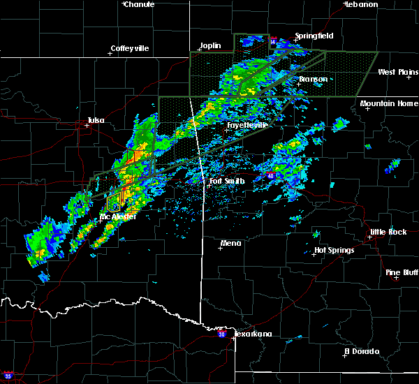 Radar Image for Severe Thunderstorms near Eufaula, OK at 3/19/2020 3:24 PM CDT