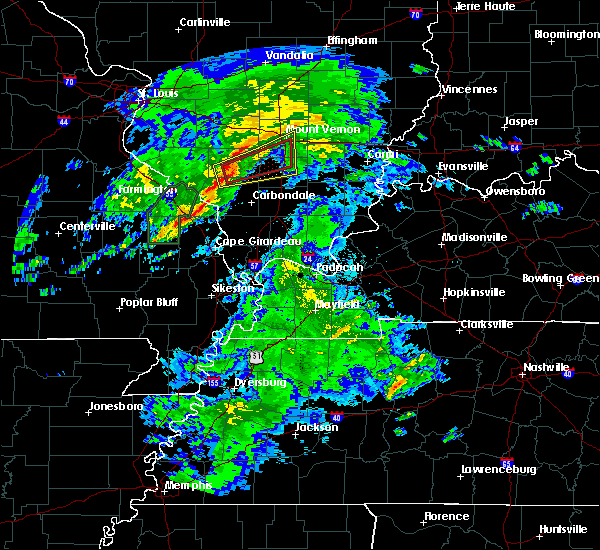 Radar Image for Severe Thunderstorms near Sesser, IL at 3/19/2020 3:41 PM CDT