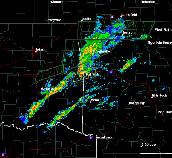 Radar Image for Severe Thunderstorms near Alma, AR at 3/19/2020 4:45 PM CDT