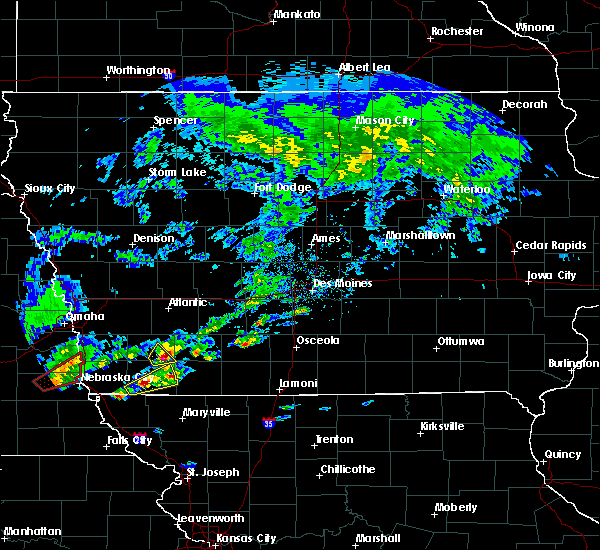 Radar Image for Severe Thunderstorms near Nodaway, IA at 3/19/2020 4:43 PM CDT