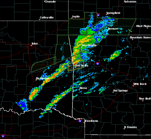 Radar Image for Severe Thunderstorms near Alma, AR at 3/19/2020 4:55 PM CDT