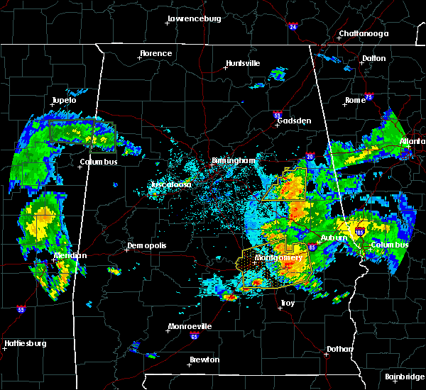 Radar Image for Severe Thunderstorms near Hollins, AL at 6/24/2015 8:45 PM CDT