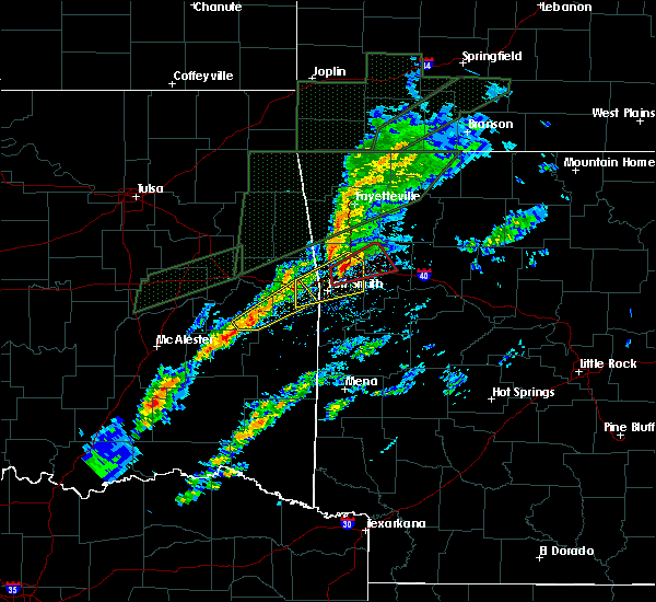 Radar Image for Severe Thunderstorms near Alma, AR at 3/19/2020 5:04 PM CDT