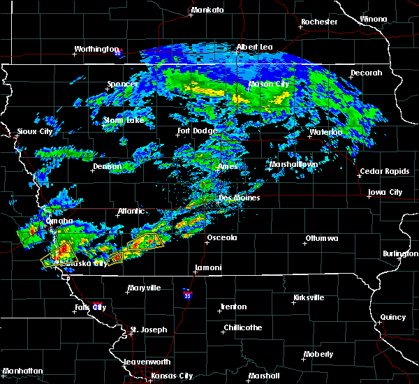 Radar Image for Severe Thunderstorms near Lenox, IA at 3/19/2020 5:11 PM CDT