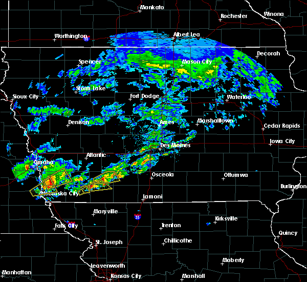Radar Image for Severe Thunderstorms near Creston, IA at 3/19/2020 5:26 PM CDT