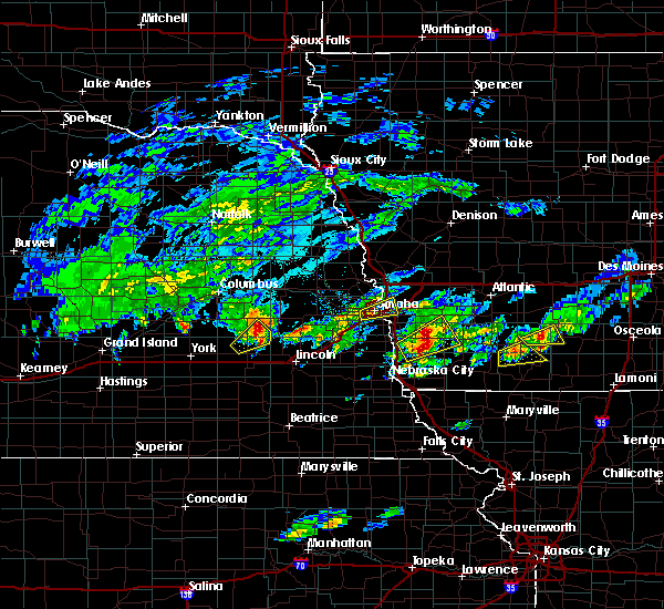 Radar Image for Severe Thunderstorms near Hastings, IA at 3/19/2020 5:29 PM CDT