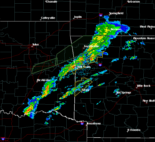 Radar Image for Severe Thunderstorms near Alma, AR at 3/19/2020 5:43 PM CDT