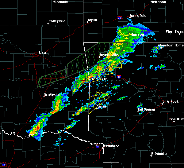Radar Image for Severe Thunderstorms near St. Paul, AR at 3/19/2020 5:50 PM CDT