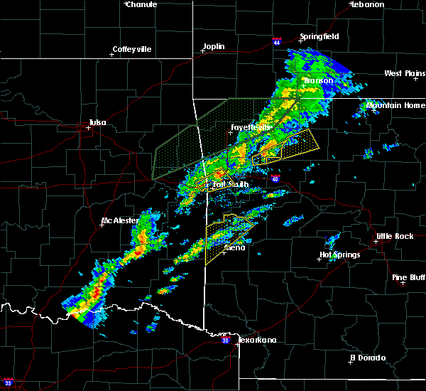 Radar Image for Severe Thunderstorms near Alma, AR at 3/19/2020 5:58 PM CDT