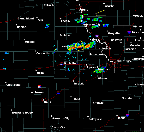 Radar Image for Severe Thunderstorms near Goff, KS at 3/19/2020 6:03 PM CDT