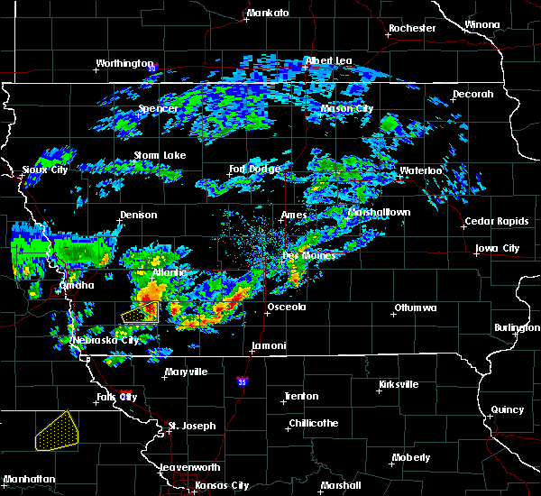Radar Image for Severe Thunderstorms near Nodaway, IA at 3/19/2020 6:09 PM CDT