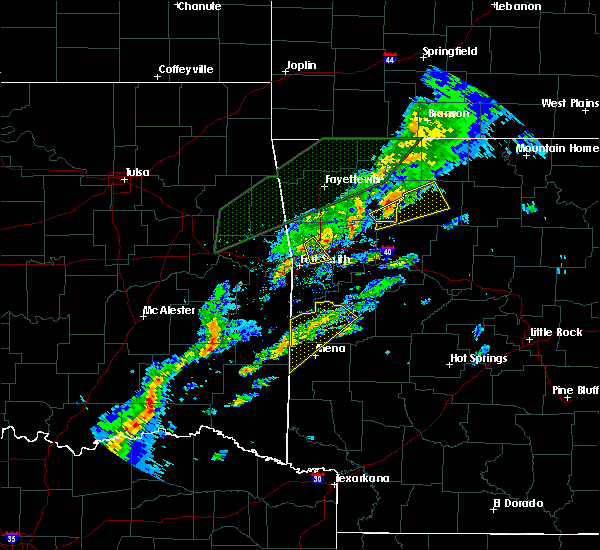 Radar Image for Severe Thunderstorms near Western Grove, AR at 3/19/2020 6:11 PM CDT