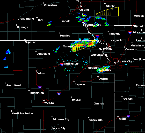 Radar Image for Severe Thunderstorms near Goff, KS at 3/19/2020 6:16 PM CDT