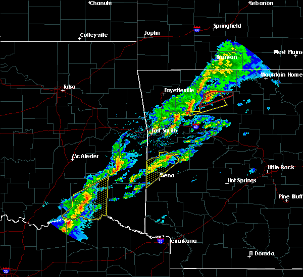 Radar Image for Severe Thunderstorms near Antlers, OK at 3/19/2020 6:25 PM CDT