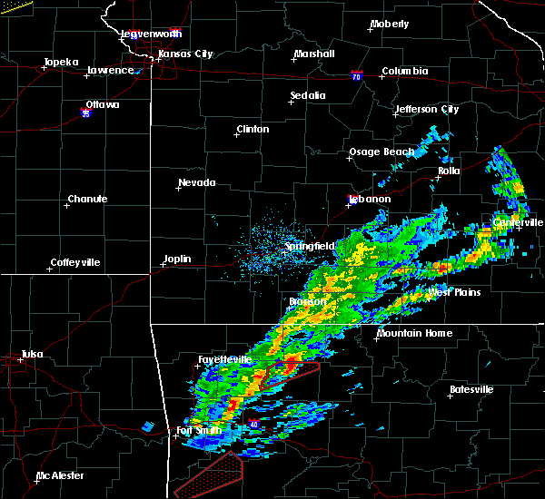 Radar Image for Severe Thunderstorms near Western Grove, AR at 3/19/2020 6:36 PM CDT