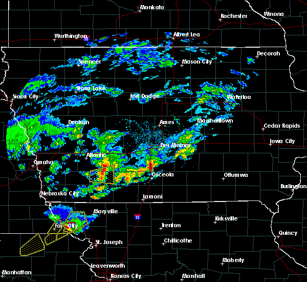 Radar Image for Severe Thunderstorms near Corning, IA at 3/19/2020 6:42 PM CDT