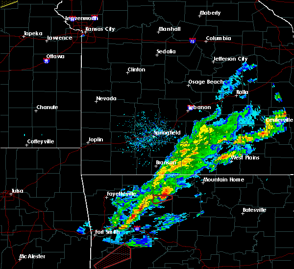 Radar Image for Severe Thunderstorms near Zinc, AR at 3/19/2020 6:45 PM CDT