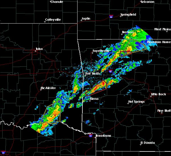 Radar Image for Severe Thunderstorms near Magazine, AR at 3/19/2020 6:49 PM CDT