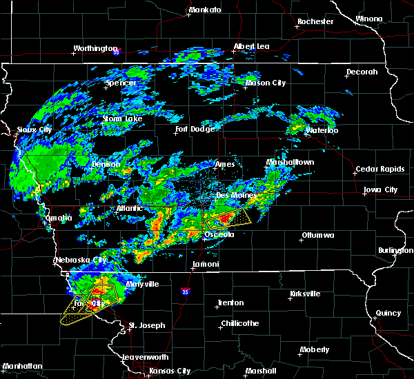 Radar Image for Severe Thunderstorms near Pleasantville, IA at 3/19/2020 6:59 PM CDT