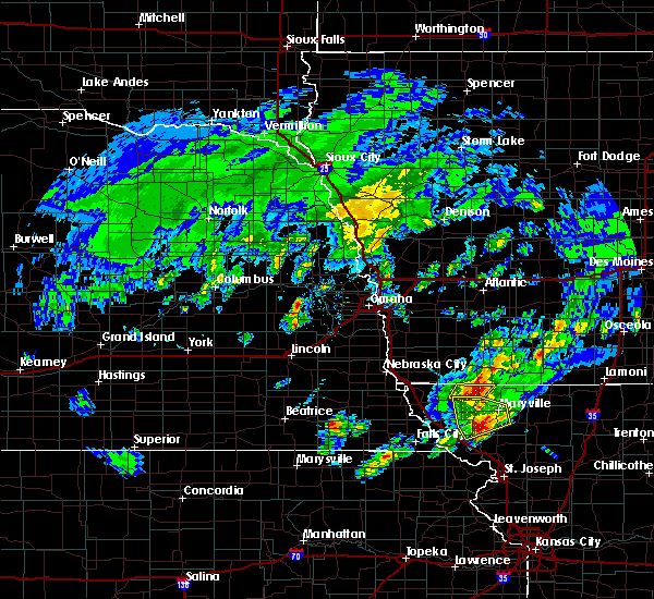 Radar Image for Severe Thunderstorms near Skidmore, MO at 3/19/2020 7:24 PM CDT