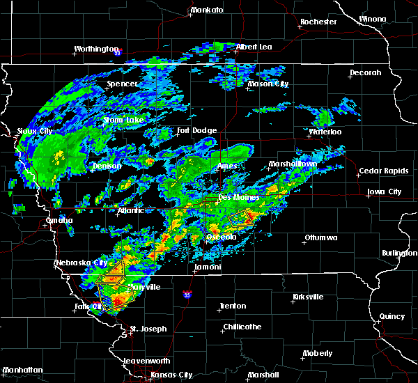 Radar Image for Severe Thunderstorms near Pleasantville, IA at 3/19/2020 7:27 PM CDT