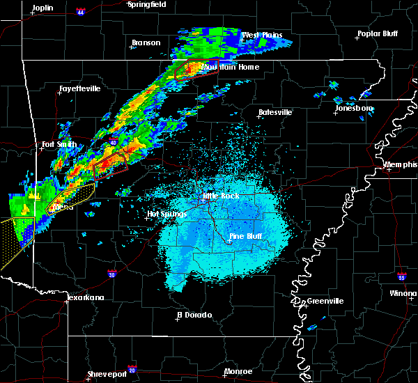 Radar Image for Severe Thunderstorms near Hector, AR at 3/19/2020 7:38 PM CDT