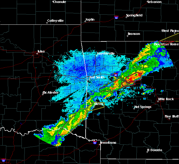 Radar Image for Severe Thunderstorms near Hatfield, AR at 3/19/2020 8:08 PM CDT