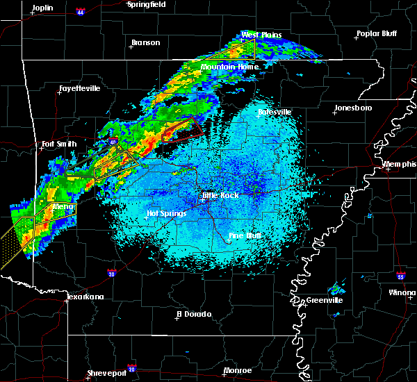 Radar Image for Severe Thunderstorms near Clinton, AR at 3/19/2020 8:19 PM CDT