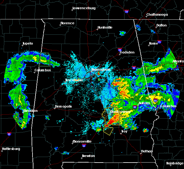Radar Image for Severe Thunderstorms near Birmingham, AL at 6/24/2015 9:07 PM CDT