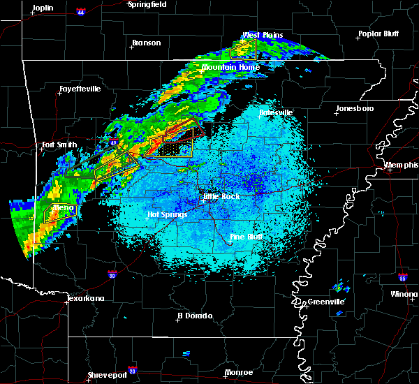 Radar Image for Severe Thunderstorms near Clinton, AR at 3/19/2020 8:25 PM CDT