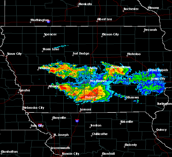 Radar Image for Severe Thunderstorms near Murray, IA at 6/24/2015 9:13 PM CDT