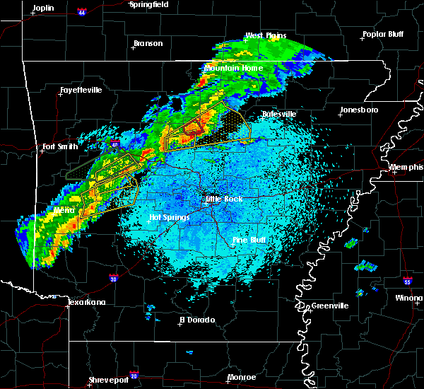 Radar Image for Severe Thunderstorms near Clinton, AR at 3/19/2020 8:59 PM CDT