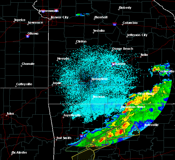 Radar Image for Severe Thunderstorms near Brandsville, MO at 3/19/2020 9:14 PM CDT