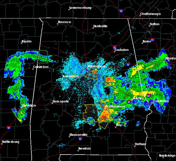 Radar Image for Severe Thunderstorms near Columbiana, AL at 6/24/2015 9:21 PM CDT