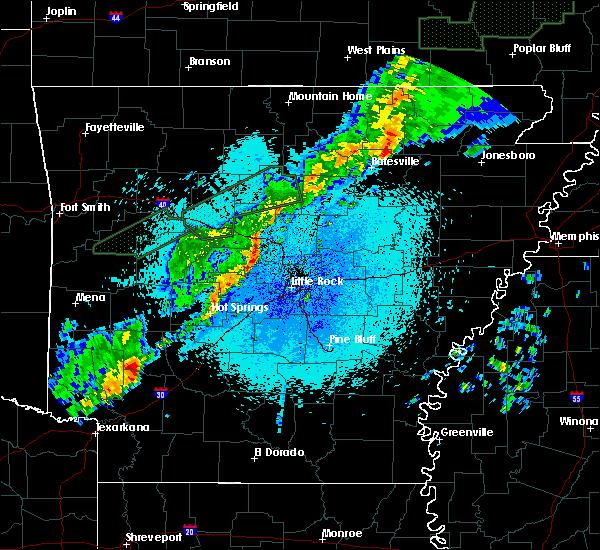 Radar Image for Severe Thunderstorms near Delight, AR at 3/19/2020 10:20 PM CDT