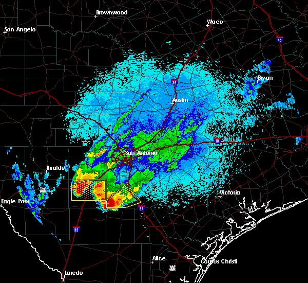 Radar Image for Severe Thunderstorms near Christine, TX at 3/19/2020 10:22 PM CDT